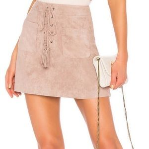 Cupcakes and Cashmere Pink Suede Skirt